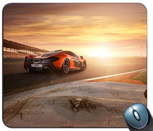 Gaming Mouse Pad Mat Desktop Mousepad for Optical Laser Mouse Fashion Designs Home Office Mousepad Laptop PC (Racing Car Background) ()