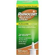 Rhinocort Allergy Nasal Spray, 24 Hour Relief, 120 Spray ( Pack May Vary )
