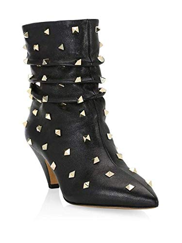 Valentino Garavani Studded Leather Booties 36.5 Black for sale  Delivered anywhere in USA