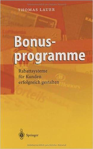 Book Bonusprogramme: Rabattsysteme Fur Kunden Erfolgreich Gestalten