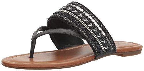 Jessica Simpson Women's Ronette Slide Sandal, Black, 6.5 Medium US