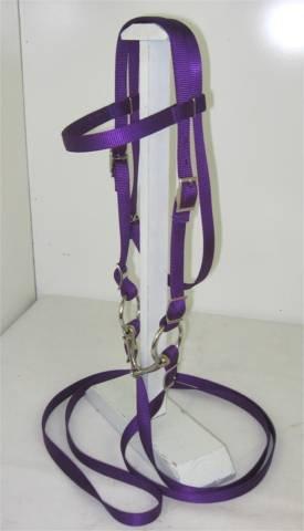 - Party Ponies Pony Complete Bridle, Nylon, with BIT Purple