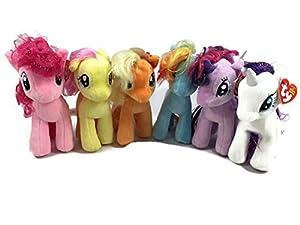 Ty Beanie Babies My Little Pony Friendship Magic Set of 6 Plush Stuffed Animal