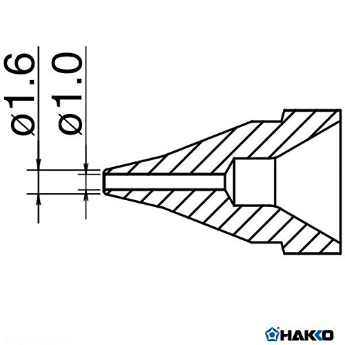For FR-4101, FR-301 Hakko Desoldering Nozzle 1.0mm SS-Type N61-03 N6103