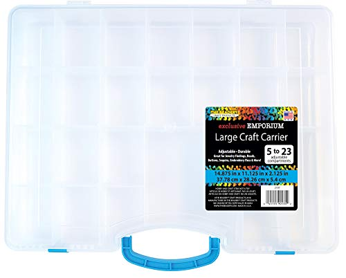 The Beadery 2187 Large Craft Carrier Storage Container, Clear