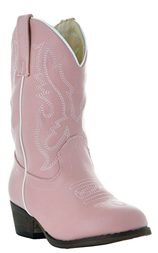 Country Love Little Rancher Kids Cowboy Boots K101-1001 (1.5 Little Kid, Pink)