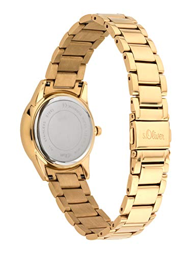 s.Oliver Damen Analog Quarz Armbanduhr mit Edelstahl Armband 3
