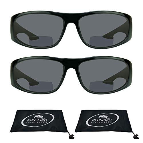 6a477d92ccf6 proSPORT Bifocal Sun Reader Sunglasses for Men and Women. Sporty Wraparound  Full Frame with Nearly