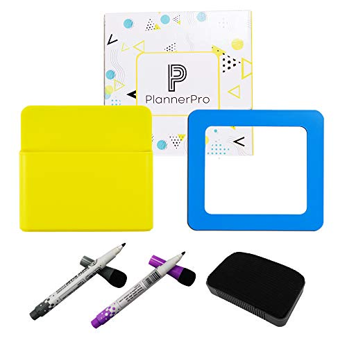(Magnetic Pencil Holder Premium Kit with Ultimate Strong Magnetic Range of 2 Markers, 1 Eraser & 1 Photo Frame. Best Solution for Organized Home Office, Whiteboard, Locker Accessories, Locker Organizer)