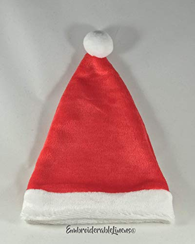 Baby Santa Hat Plush Premium Classic Red And White