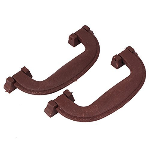 Brown Largo Furniture - DealMux 145mm Long Plastic Luggage Part Suitcase Carrying Pull Handle Brown 2pcs