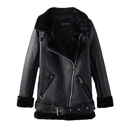 Veste cuir d'hiver femme