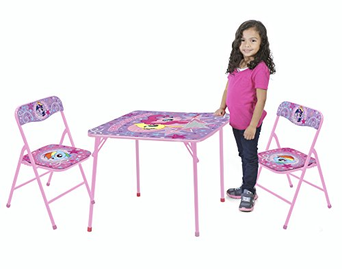 My Little Pony Table and Chair Set (3-Piece) by Hasbro