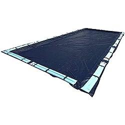 Swimline 25 x 45 Foot Dark Blue Winter Rectangular In Ground Swimming Pool Cover