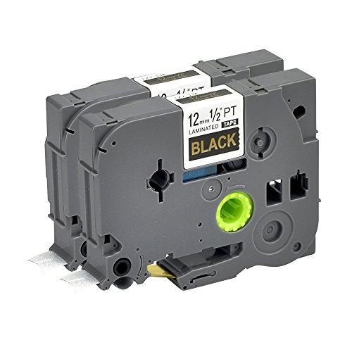 Label Orison 2PK Compatible with Brother P-Touch Label Tape TZe-334 TZ334 TZe334 1/2