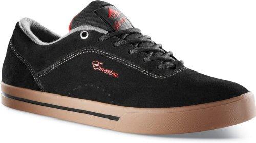 2 Black Zapatillas de de 6101000065 deporte unisex Emerica JINX Red Gum cuero UwnzHxEESq
