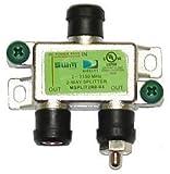 Directv [mrv] Swm 2 Way Splitter 2-2150 Mhz 1 Port Power Passing Weather Se [msplit2]