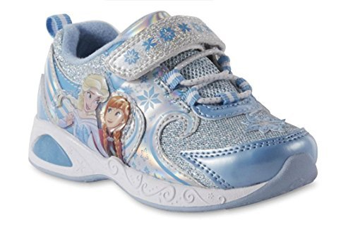 ACI Toddler Girls' Frozen Light-up Blue Sneakers (7 Toddler)]()