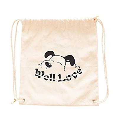 Reusable Grocery Bags - Canvas Drawstring Backpack Bag - Eco Bag - Lightweight Basic Bag - Durable Storage Organization Bag