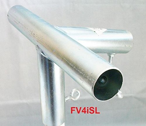Golden Valley Tools & Tarps 4 way EDGE LOW PEAK DOWN ANGLE 1 3/8 CANOPY FITTING (FV4ISL) 1 3/8 Pipe by Golden Valley Tools & Tarps