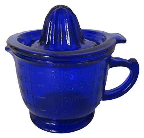 Cobalt Blue Glass Juicer Reamer Graduated Measuring Cup ()