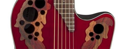 Ovation CE44-RR Acoustic-Electric Guitar, Ruby Red