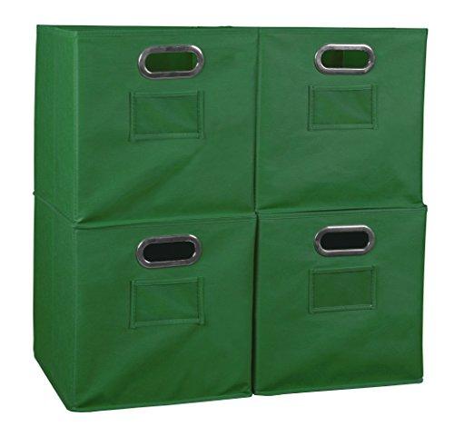 Niche Set of 4 Cubo Foldable Fabric Bins- Green ()