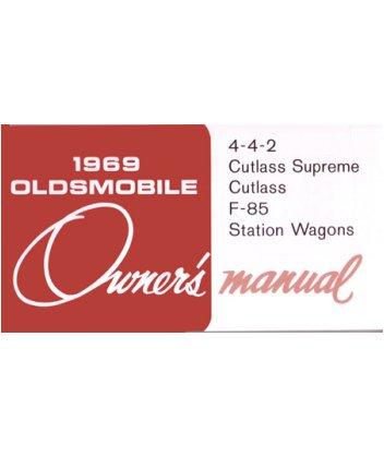 1969 OLDSMOBILE 442 CUTLASS F-85 WAGON Owners Manual ()