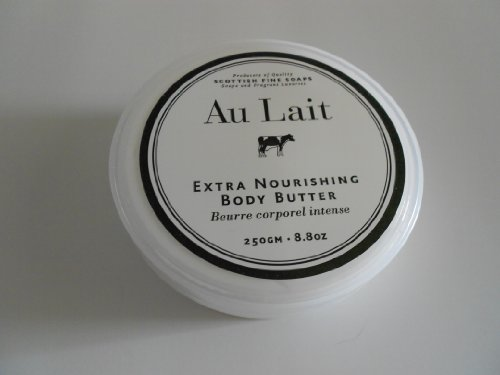 Scottish Fine Soaps Au Lait Extra Nourishing Body Butter - 8.8 oz. Jar -