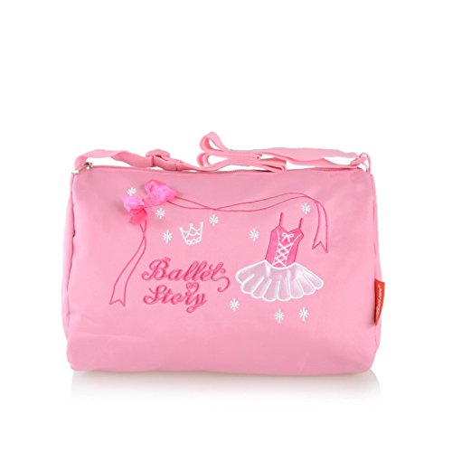 CHICTRY Dance Ballet Duffle Bag for Little Girls Pink Ballet Dress 10.4 x 7.5 x 6.4 (Custom Made Jazz Costumes)
