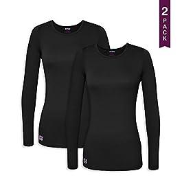 Sivvan 2 Pack Women's Comfort Long Sleeve T-Shirt/Underscrub Tee