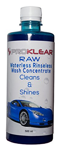 PROKLEAR RAW Rinseless/Waterless Auto Wash Concentrate   500ml Car Dry Wash Concentrate Makes 50 liters