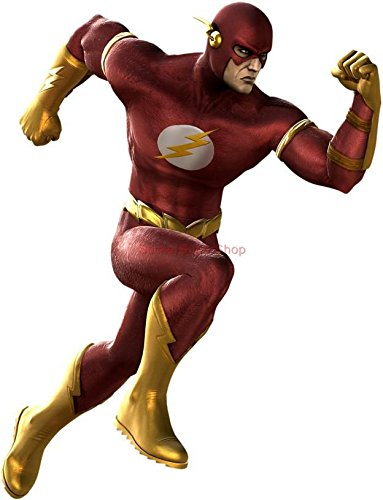 Decal THE FLASH WALL STICKER Home Decor Art Comics C481, Large