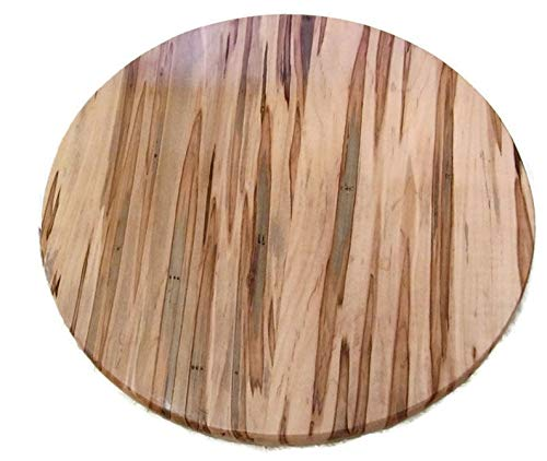 Ambrosia Maple Round Wood Table Top Disc by Specialty Wood Designs