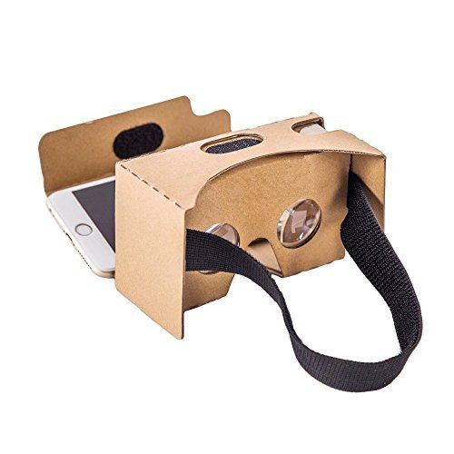 Maxshop Google Cardboard V2.0 3D Virtual Reality Glasses with Head Strap, Compatible with Android & Apple, Easy Setup. Fit for 3-6inch Screen