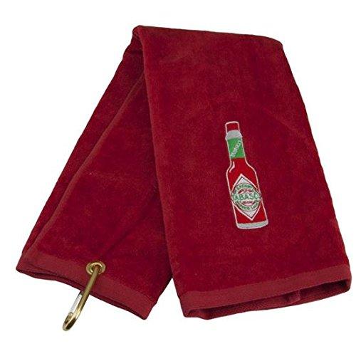 tabasco-brand-bottle-design-golf-towel-red