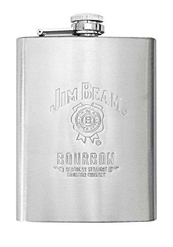 Jim Beam 8oz Stainless Steel Whiskey Flask