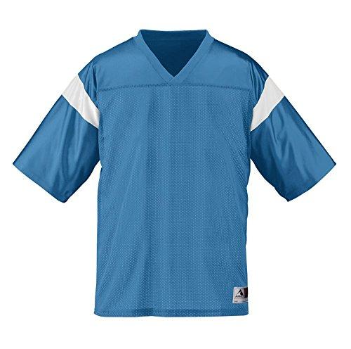 Augusta Sportswear BOYS' PEP RALLY REPLICA TEE M Columbia Blue/White (Rally Pep Collection)