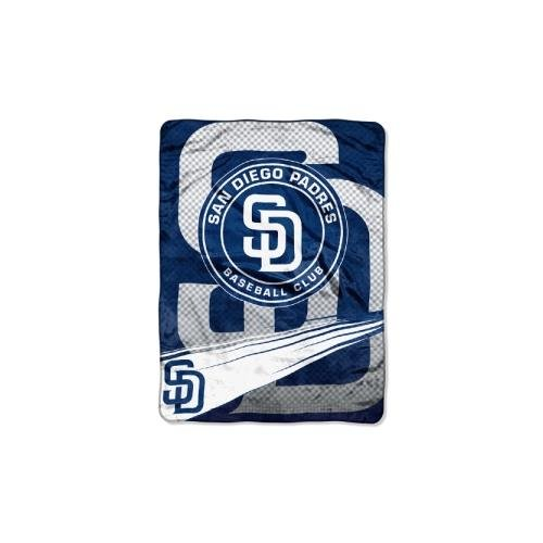 The Northwest Company MLB San Diego Padres Speed Plush Raschel Throw, 60