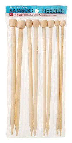 Darice Bamboo Knitting Needles 7, 9, 10, 12 (1171-75) (Needles Bamboo 9 Size Knitting)