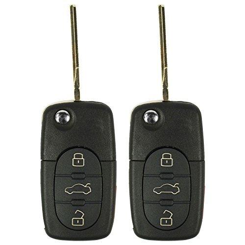 2 QualityKeylessPlus Replacement Keyless Entry Remote For FCC ID: 4D0837231E 4 Button Flip Key FREE KEYTAG [並行輸入品] B077S53TV9