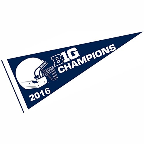PSU Nittany Lions Big Ten 2016 Football Champs Pennant