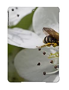 Ideal Gift - Tpu Shockproof/dirt-proof Bee On A Pear Blossom Cover Case For Ipad(air) With Design