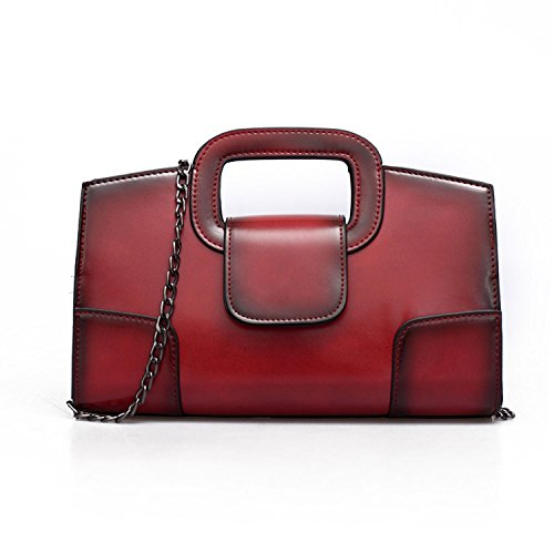 (Sanxiner Leather Evening Handbags/Clutches Bags Crossbody Purse for Women (Red) )