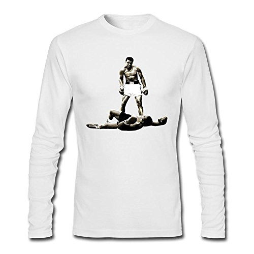 MINIXmas Men's World Tops Boxing Muhammad Ali Costumes Long Sleeve T-shirt White L
