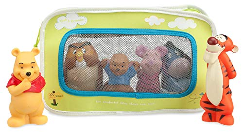 Winnie the Pooh and Pals Bath Toy Set in Zipped Bag - Winnie the Pooh, Tigger, Eeyore, Piglet, Owl, and Roo ()