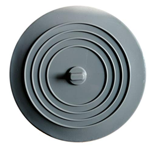 Bathroom Accessories Sets - 2 Pcs Diameter 15cm Tub Stopper Food Grade Silicone Solid Color Large Round Flat Sink Plug Covers - Nickel Gray Kids Sets Steel Rubbed Stainless Complete Elephant Brus ()