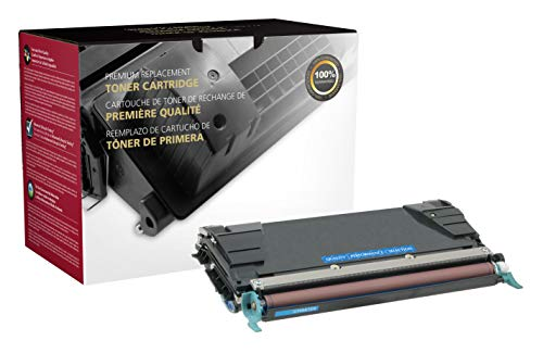 (Inksters Remanufactured Cyan Toner Replacement for Lexmark C736 / X736 / X738 - High Yield - 10k Pages)