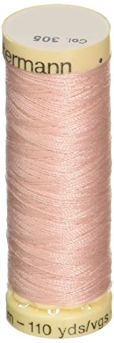 - Gutermann Sew-All Polyester Purpose Thread, 100m/110 yd, Petal Pink