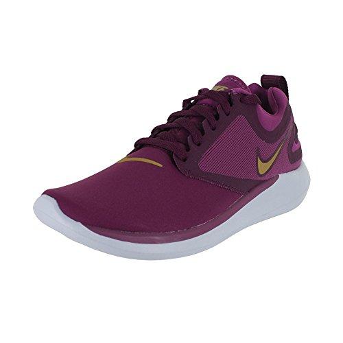 Nike Kids Nike Lunar Solo (GS) Tea Berry Metallic Gold Running Shoe Size 6.5